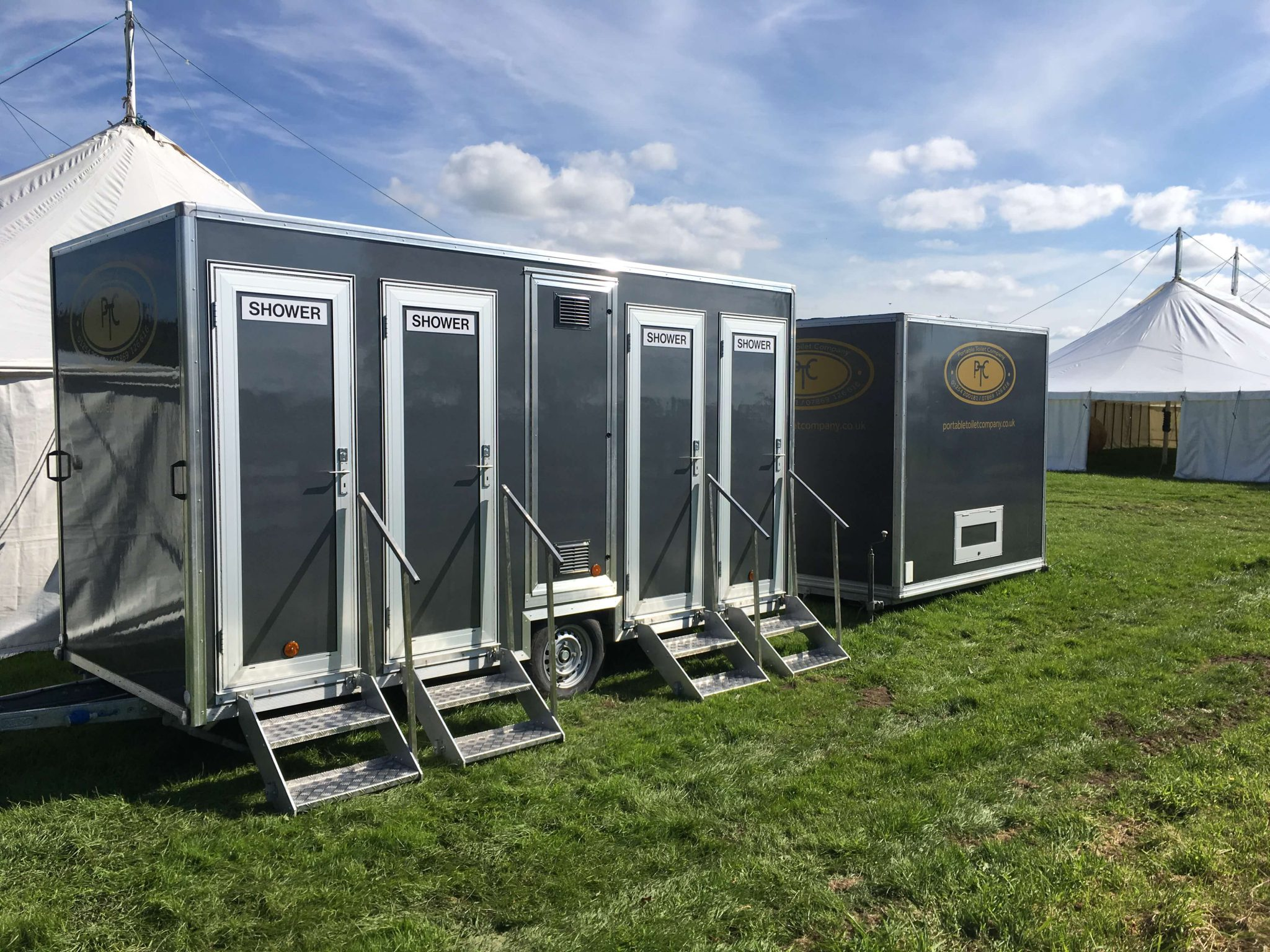Clean Indianapolis Portable Restrooms Trailers Showers